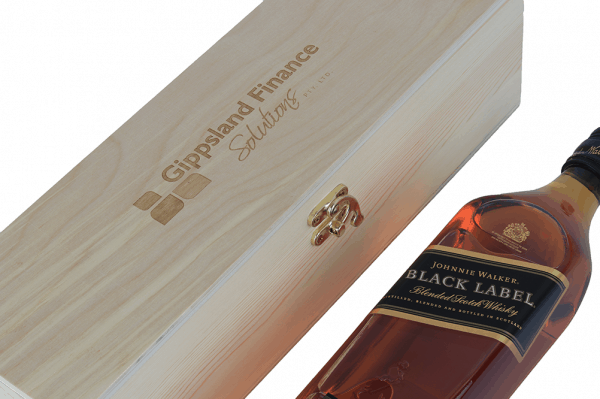 Whisky Laser engraved timber box gift set