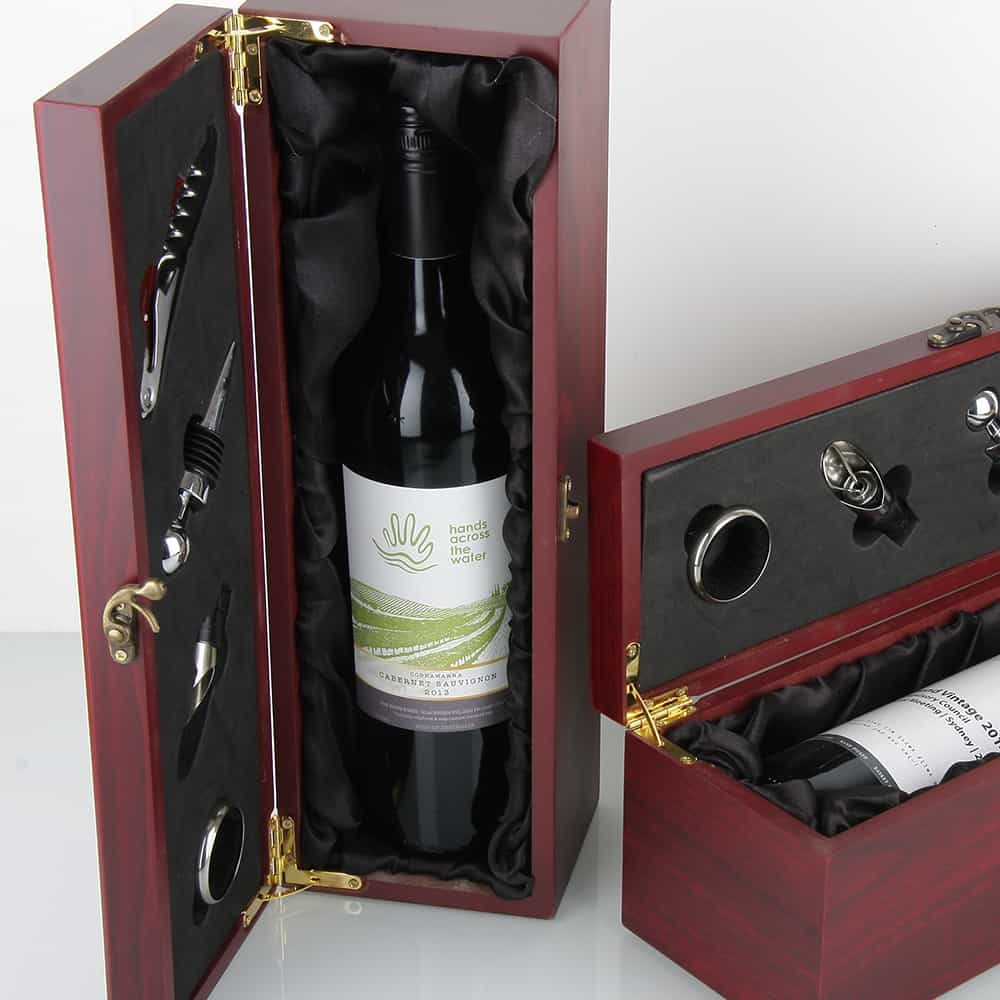 Timber Satin Blk Presentation Box 5 Oak Room Wines