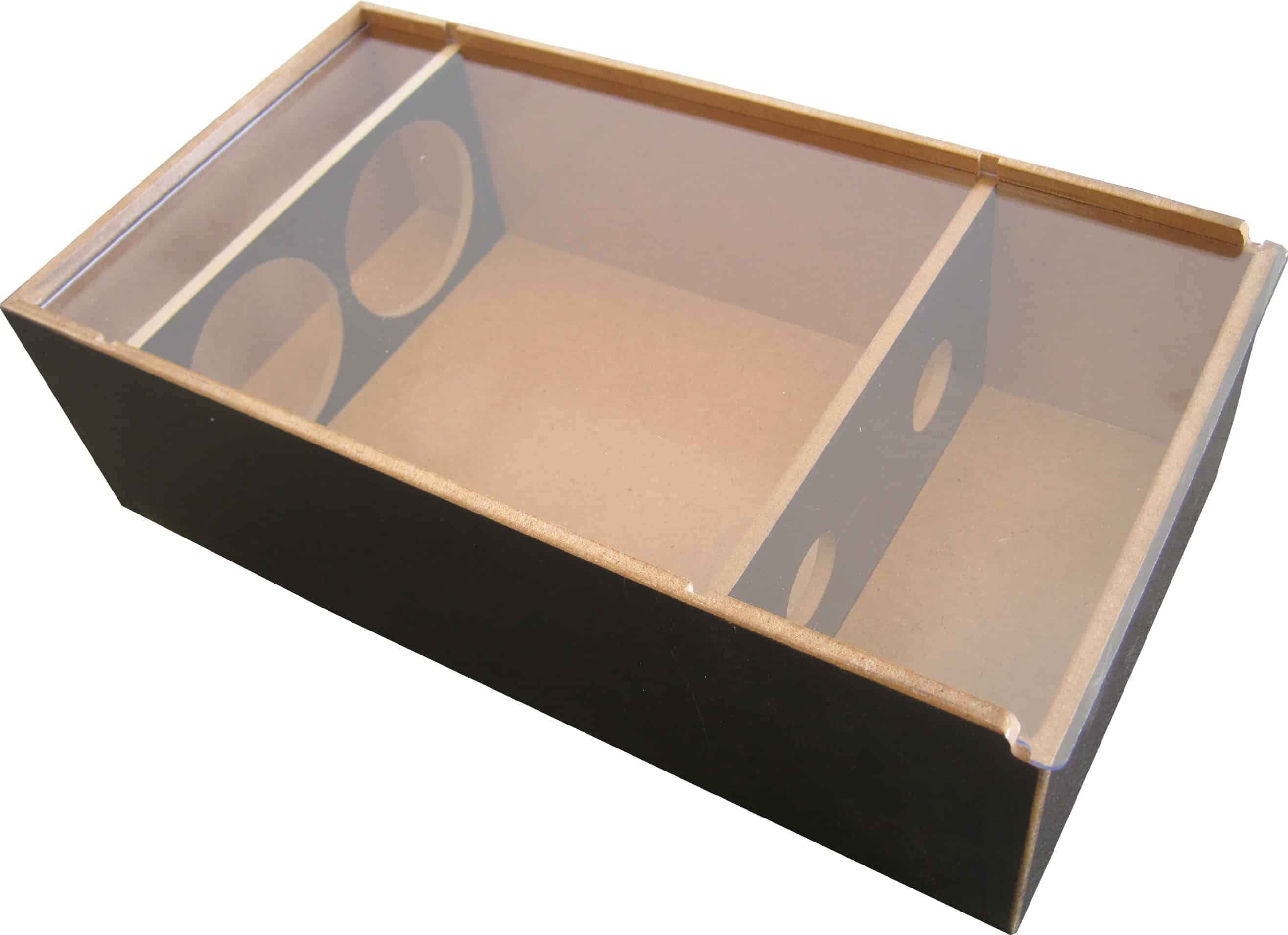 Timber elite 2x bottle gift box perspex lid oak room wines for Timber wine box
