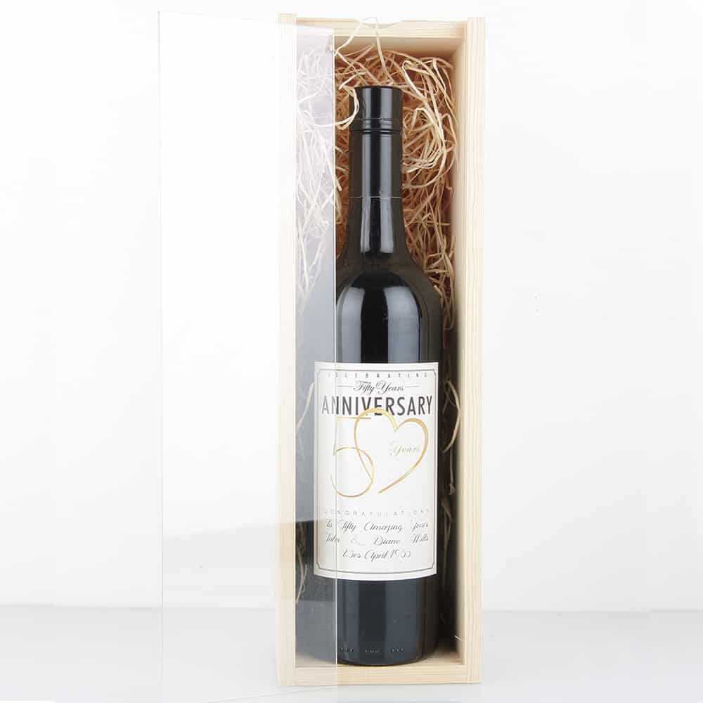 Premium timber 1x bottle wine gift box oak room wines for Timber wine box
