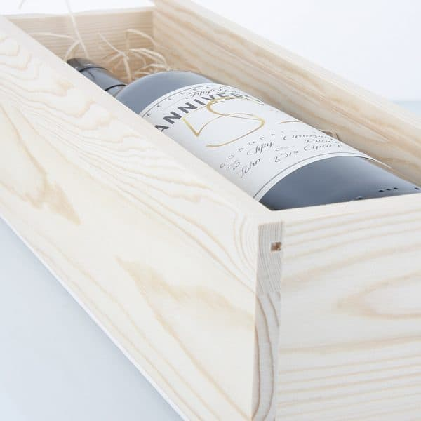 Timber wine presentation box - Oak Room Wines