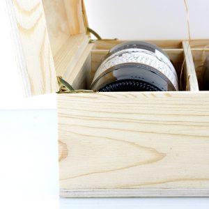 Timber two bottle presentation wine box - Oak Room Wines
