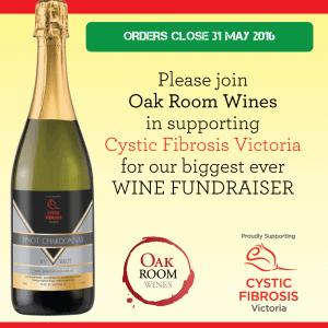 Cystic Fibrosis Victoria - Wine Fundraising Event Oak Room Wines