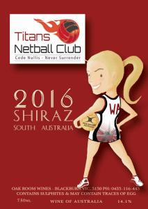 Titans Netball Club Wine Fundraiser