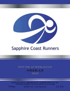 Sapphire Coast Runners Club Wine Fundraiser