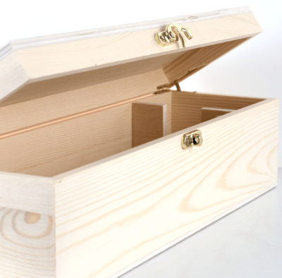 Single Wine Timber Gift Box with Hinge Lid 1