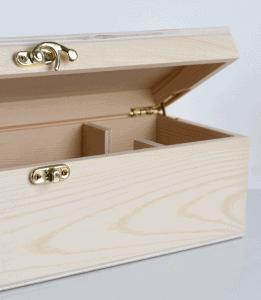 Single Wine Timber Gift Box with Hinge Lid 3