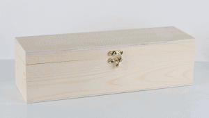 Single Wine Timber Gift Box with Hinge Lid