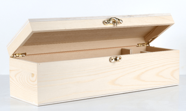 Single Wine Timber Gift Box with Hinge Lid2