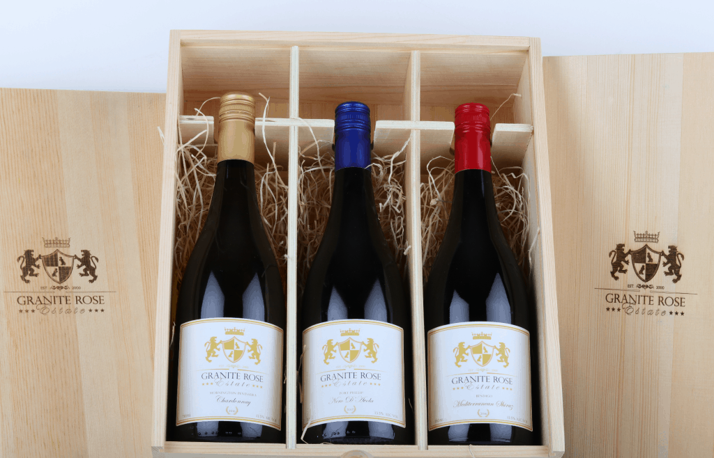 Premium Wine gift with laser engraving