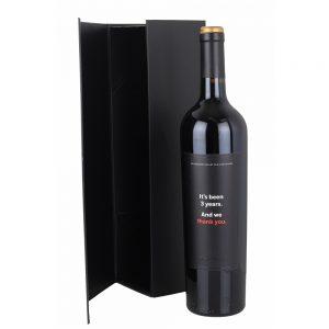 Black Magnetic Premium Wine Gift Box